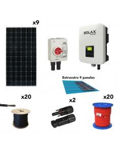 [SCP0034] Kit solar autoconsumo 3,3kW 16kW/dia SolarPack SCP0034 SolaX