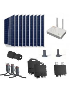 [SCP0046] Kit autoconsumo 2800W con microinversor APSystems y 9 paneles sin estructura - Techno Sun