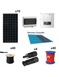 [SCP0030] Kit autoconsumo trifásico 4,4kW 18kW/dia SolarPack SCP0030 SOFAR