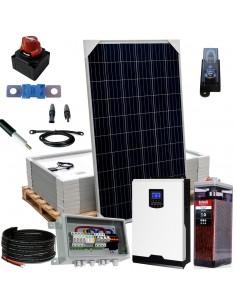 Kit aislada SolarPack OGP13 - 5kW 48v 11,7kW/dia Vivienda Permanente - ELECSUN