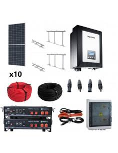 Kit autoconsumo SolarPack SCP0093 3kW 4,8kWh 21kW/día monofásico 2MPPT 12A - Ingeteam