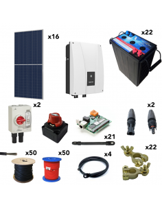 [KIT083] Kit aislada SolarPack OGP16 - 6kW 132V 33kW/día Vivienda permanente - TECHNO SUN
