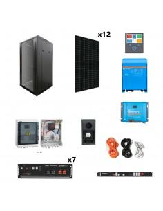 [OGP0021] Kit aislada SolarPack OGP0021 - 4,6kW 24,5kWh 22.500W/dia - vivienda permanente - TECHNO SUN
