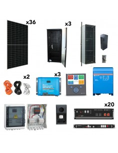 [OGP0025] Kit aislada SolarPack OGP0025 - 8kW 70kWh 67.700W/dia - vivienda permanente - TECHNO SUN
