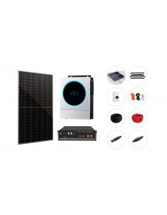 Kit solar aislada con litio Pylontech 5kW 4,8-7kWh 8,5kW/dia