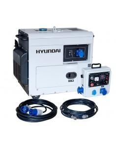 DHY6500SE-LRS Generador Hyundai Diésel específico para apoyo solar