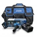 HY-COMBO-1-5 Amoladora Hyundai + Batería 2Ah + Cargador + Bolsa