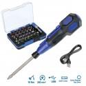 Conjunto Destornillador USB y bits 36 p