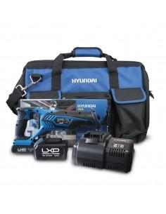 HY-COMBO-1-4 Sierra de Sable Hyundai + Batería 2Ah + Cargador + Bolsa