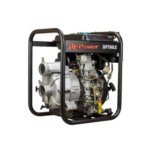 DPT80LE Motobomba diesel aguas cargadas ITCPower 80mm 3 p