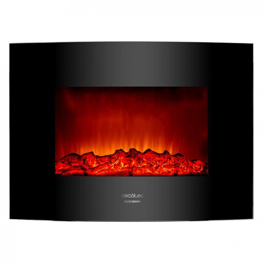 Ready Warm 2200 Curved Flames Chimenea eléctrica decorativa Cecotec