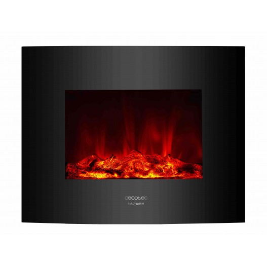 Ready Warm 2600 Curved Flames Chimenea eléctrica decorativa Cecotec
