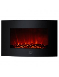 Ready Warm 3500 Curved Flames Chimenea eléctrica decorativa Cecotec